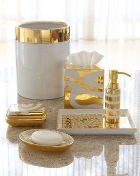 Gold bath accessories 1
