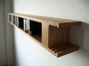 Hanging cd rack