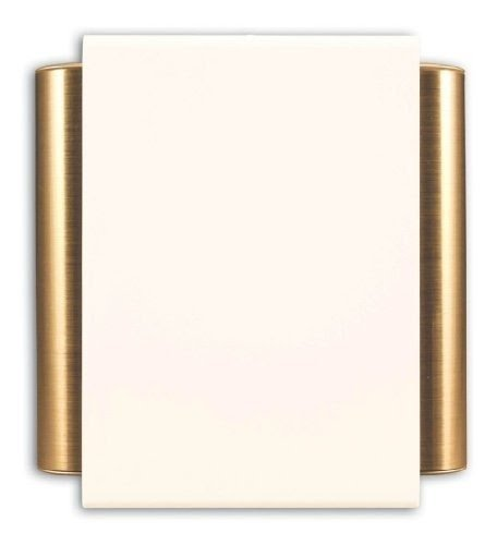 Heath Zenith 50/M B Wired Door Chime With Off White Cover And Satin Brass