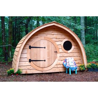 Hobbit hole playhouse kit outdoor wooden