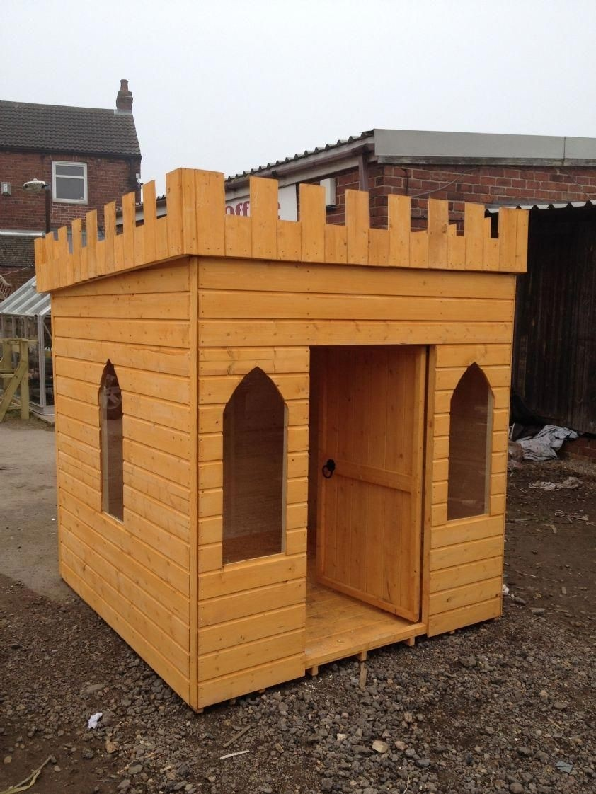 Large childrens wooden playhouse wendy house play castle