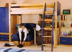 Loft Beds With Desk And Futon 1