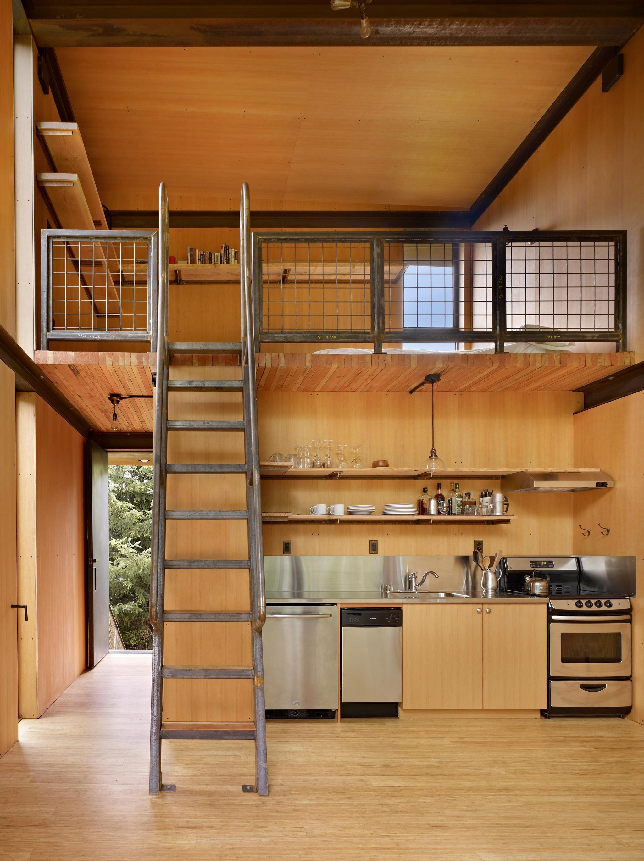Loft with stairs 1
