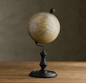 Loving this antique globe reproduction only 49
