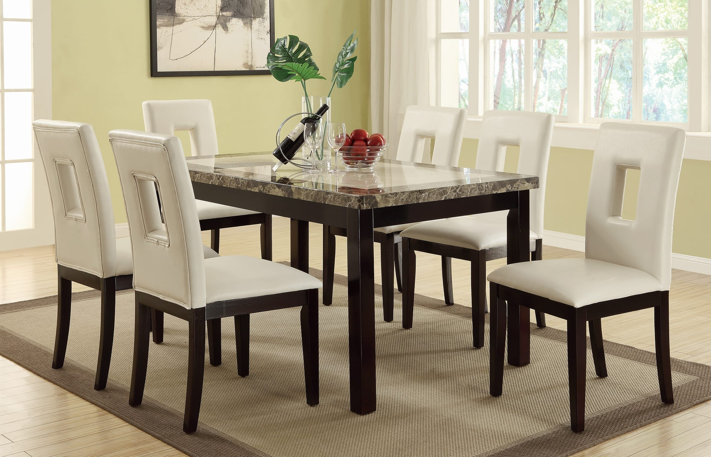 Marble top counter height dining table set  sc 1 st  Foter & Faux Marble Dining Table Set - Foter