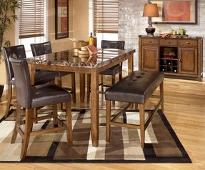 Faux Marble Dining Table Set - Foter