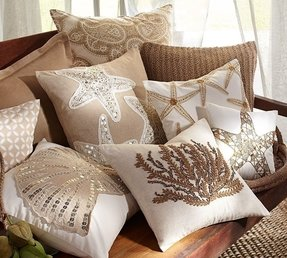 Nautical accent pillows