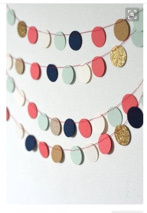 Navy mint gold coral and cream confetti