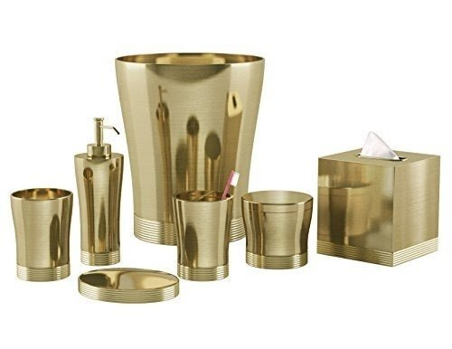 Charmant Nu Steel 8 Piece Special Gold Bath Accessories Set
