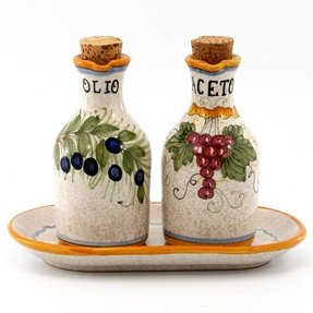 Oil and vinegar cruet set 6