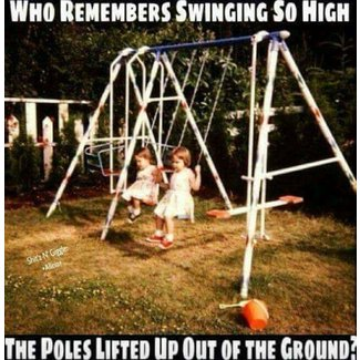 Old metal swing set