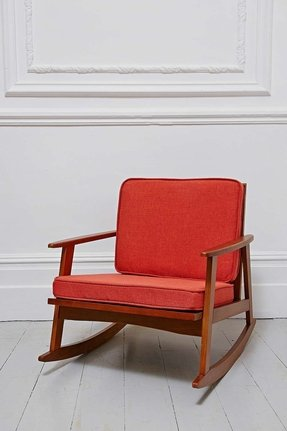 Orange rocking chair