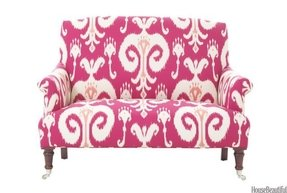 Pink sofa cover 1