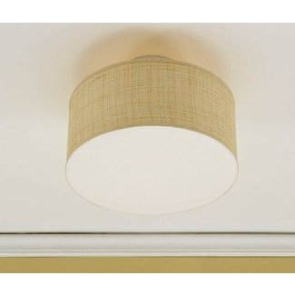 Pottery barn clip on drum shade natural raffia
