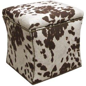 Cool Cow Print Ottoman Ideas On Foter Theyellowbook Wood Chair Design Ideas Theyellowbookinfo