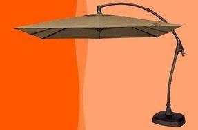 rectangular cantilever umbrella foter. Black Bedroom Furniture Sets. Home Design Ideas