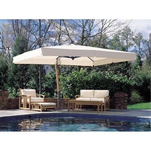 rectangular cantilever umbrella foter - Rectangle Patio Umbrella