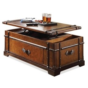 Riverside furniture latitudes steamer trunk coffee table with lift top