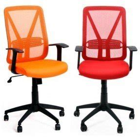 High Quality Simply Serie   Colorful Red Orange Mid Back Office Computer Back Chair With  Arms