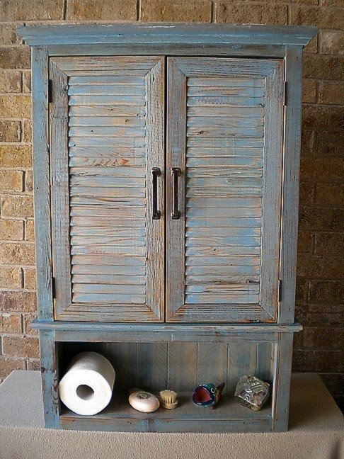 Storage medicine cabinet of reclaimed