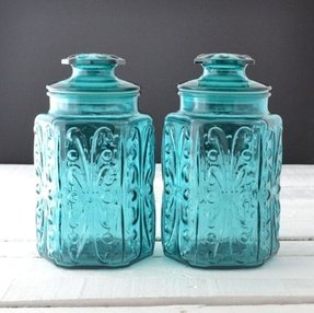 Teal Kitchen Canisters Ideas On Foter
