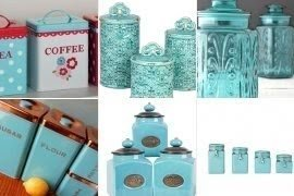 Superieur Teal Kitchen Canisters