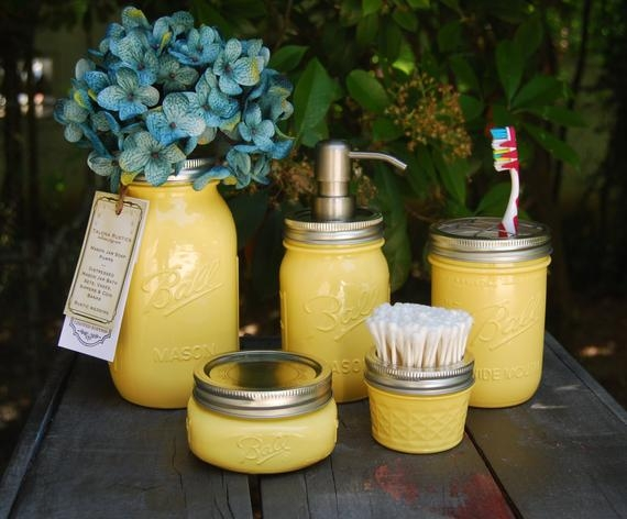 The original 5 pc mason jar bath set