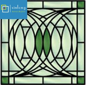 Tiffany stained glass window panels