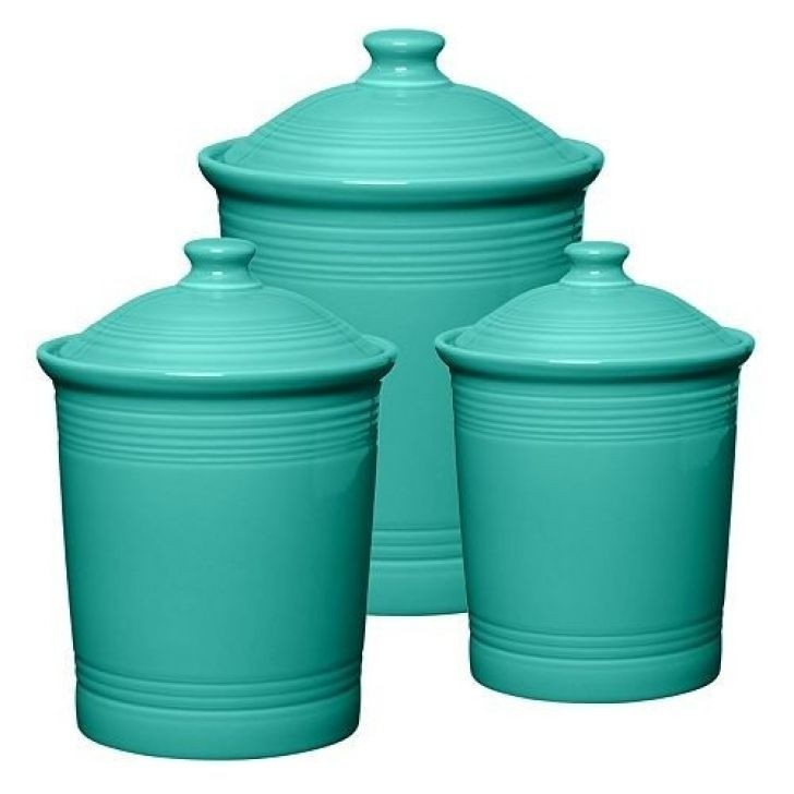 Gentil Turquoise Canister Set
