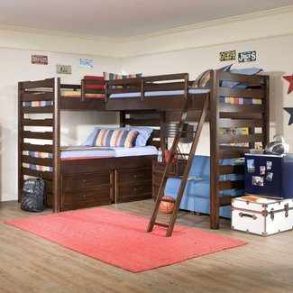 Twin bed corner unit