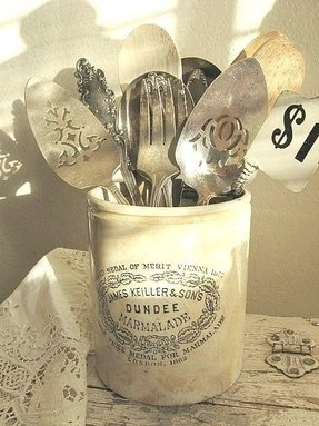 Utensil crock holder 9