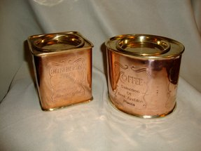 Vintage copper brass coffee and tea