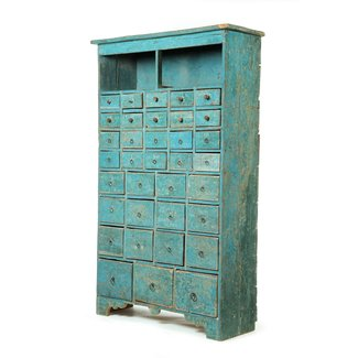 Vintage Style Wood Cabinet With Small
