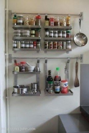 Wall hanging spice rack foter Ikea hanging kitchen storage