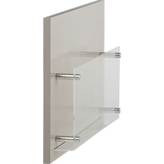 Wall mounted bathroom magazine rack 1