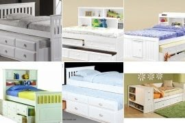 White captains bed with trundle and storage & White Captains Bed With Trundle And Storage - Foter