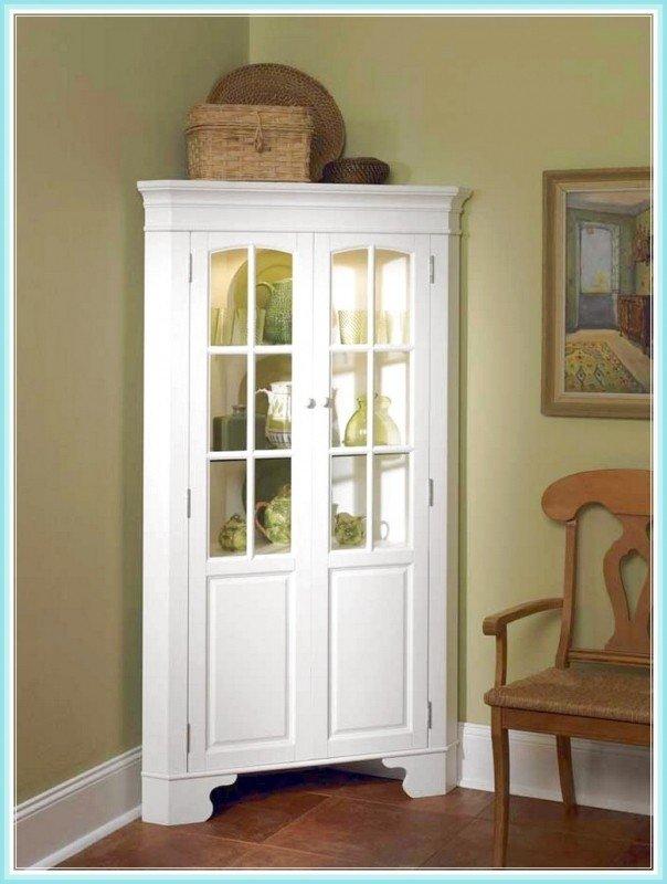White curio corner cabinet & White Curio Corner Cabinet - Foter