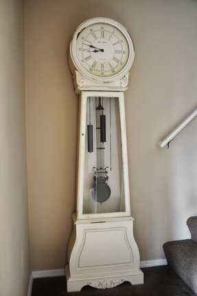 White grandfather clock 3