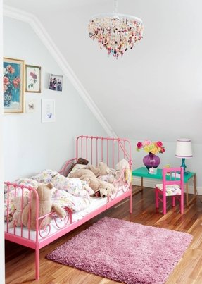 White Metal Toddler Bed