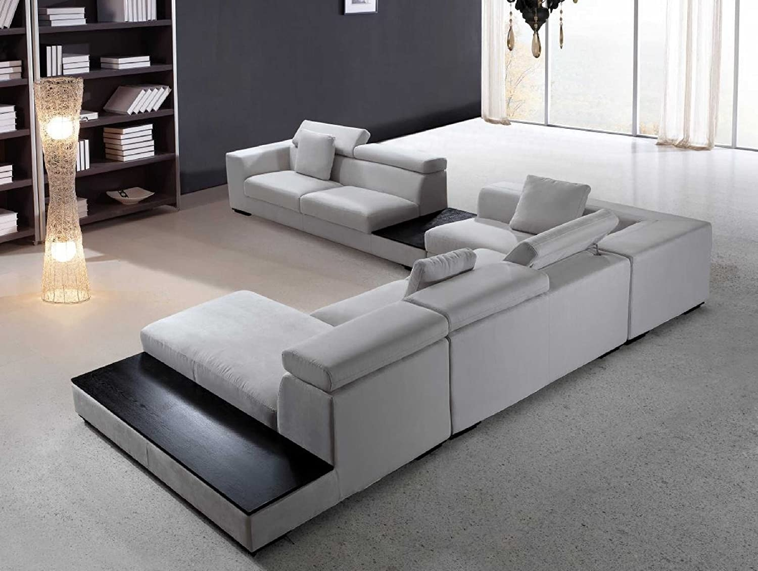White Sectional Sofa With Chaise 6
