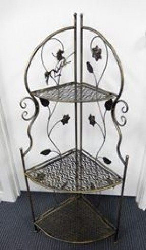 Wrought iron corner rack 6
