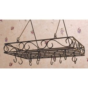 Wrought Iron Hanging Pot Rack - Foter