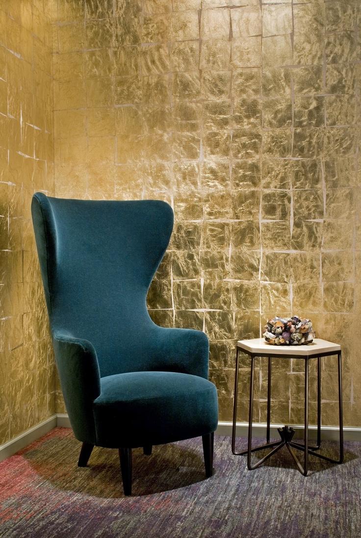 Yellow Wingback Chair 2