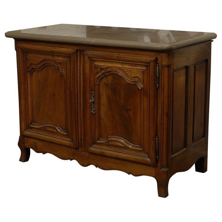 18th century french walnut buffet marble top