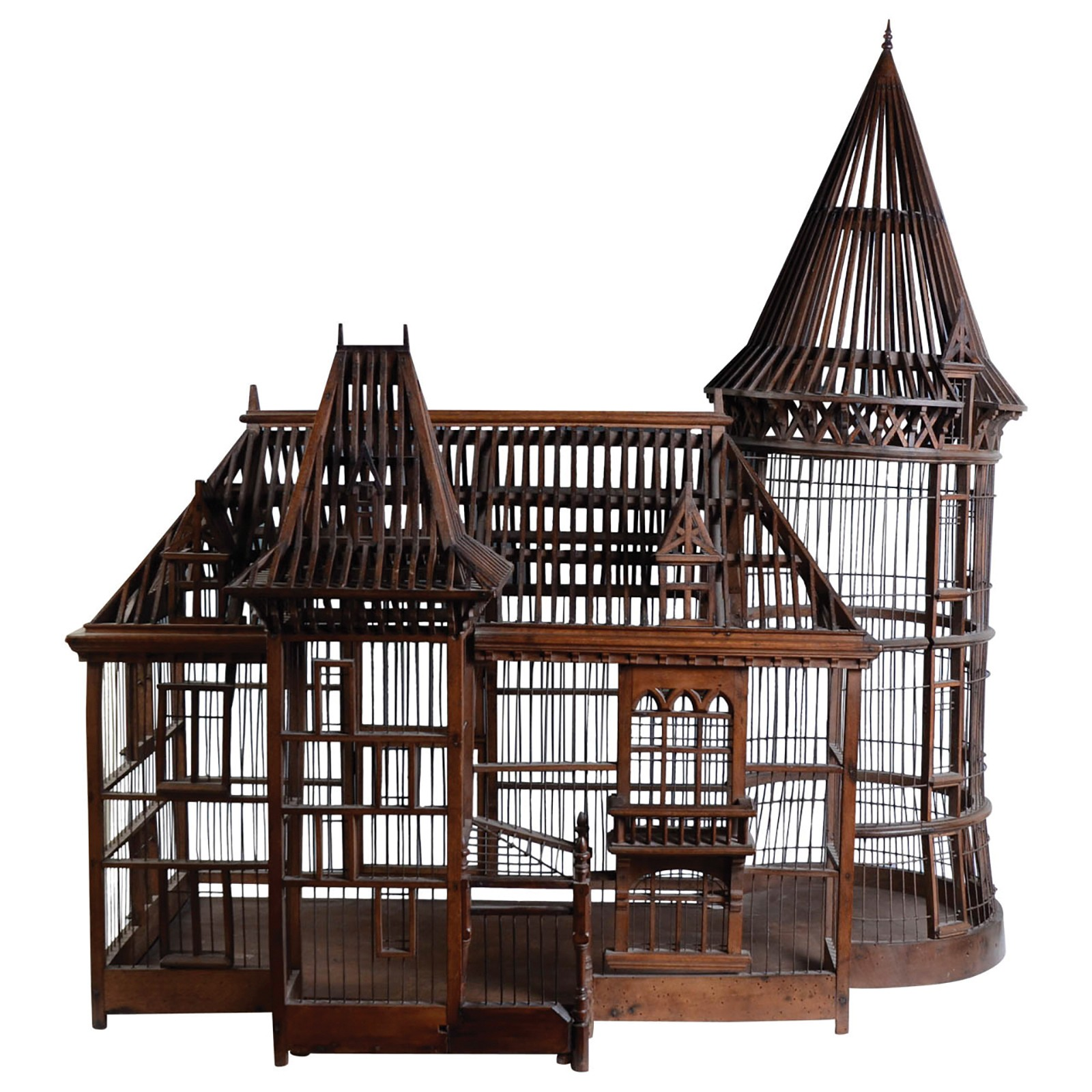 19th century carpenter masterpiece bird cage