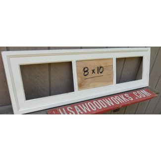 8 x 10 triple picture frame country