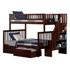 Atlantic furniture woodland twin over full bunk bed with twin