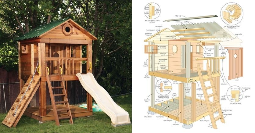 Boys Outdoor Playhouse 1
