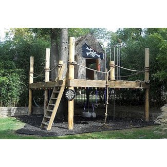 Boys outdoor playhouse