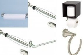 Brushed nickel paper towel holder wall mount